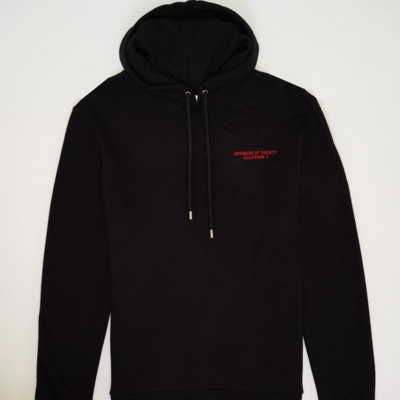elegant and graceful low price large discount Everyday Black Hoodie with red logo embroidery NWT